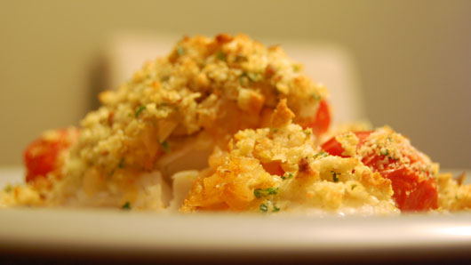 Herb Crusted Fillet of Pickerel